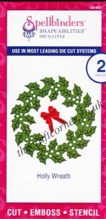 Holly Wreath Spellbinders Shapabilities Die D-Lites (S2-057)